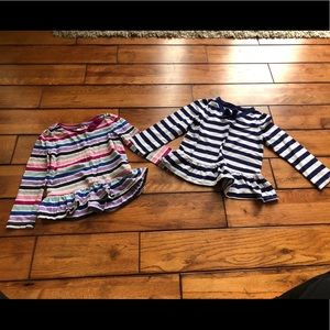 Gymboree bundle of 2 striped long sleeved shirt